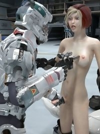 intelligent robot also wants to fuck beautiful futa babe