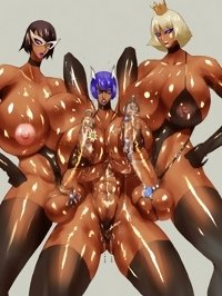 three 3d dickgirls after gym show its muscle